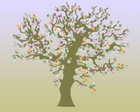 Arbre d'argent illustration stock