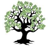 Arbre d'argent avec des pièces de monnaie Image stock