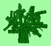 Arbre d'argent des billets de banque de dollar US Image libre de droits