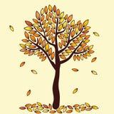Arbre d'automne de vecteur Image stock