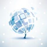 Arbre d'hiver, icône abstraite Photos libres de droits