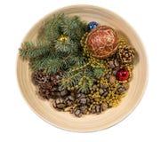 arbre d'illustration de décorations de Noël 3d Image stock