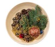 arbre d'illustration de décorations de Noël 3d Photos stock