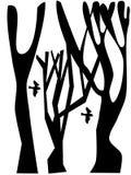 arbre d'oiseau illustration de vecteur