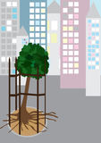 Arbre dans Jail_eps Illustration Libre de Droits