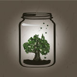 Arbre dans le pot illustration libre de droits