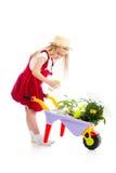 Arbre de arrosage d'enfant de jardinier image libre de droits