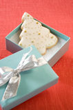 Arbre de biscuit de Noël Image stock