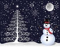 arbre de bonhomme de neige de Noël Image stock
