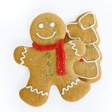 Arbre de bonhomme en pain d'épice et de Noël Photos libres de droits