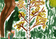 Arbre de bouleau illustration libre de droits