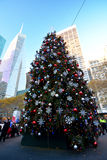 Arbre de Bryant Park Christmas Photos stock