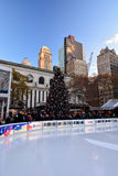 Arbre de Bryant Park Christmas Photo libre de droits