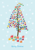Arbre de cadeaux de Noël photo libre de droits