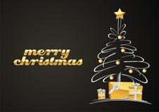 arbre de cadeaux de Noël Images libres de droits