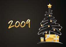 arbre de cadeaux de Noël Images stock