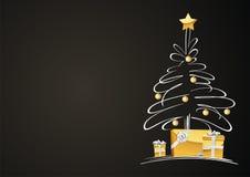 arbre de cadeaux de Noël Image libre de droits