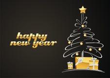 arbre de cadeaux de Noël Photos libres de droits