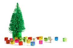 arbre de cadeaux dessous photographie stock
