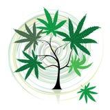 Arbre de cannabis illustration de vecteur