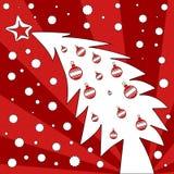 arbre de carte postale de Noël illustration libre de droits