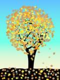Arbre de chêne d'automne Photos stock