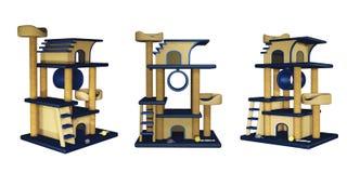 Maison de jouet de chat avec l 39 chelle photo libre de for Arbre maison jouet