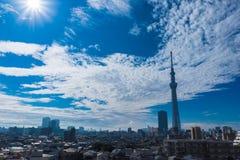 Arbre de ciel de Tokyo Photo stock