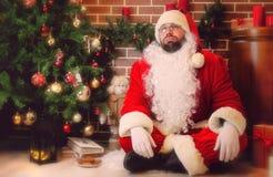 arbre de Claus Santa de Noël Image libre de droits