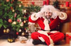 arbre de Claus Santa de Noël Images stock