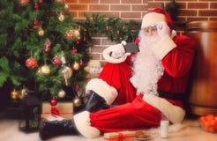arbre de Claus Santa de Noël Image stock