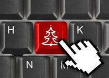 arbre de clavier de touche d'ordinateur de Noël photo libre de droits