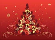 arbre de conception de Noël illustration stock