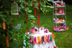 Arbre de décoration de mariage Photo libre de droits