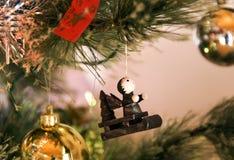 arbre de décorations de Noël Image libre de droits