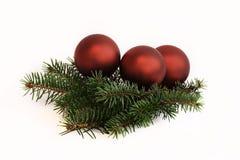 Arbre de décorations de Noël avec des jouets Photo stock