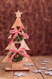 arbre de décorations de Noël de fond Photographie stock