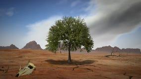 Arbre de désert, rendu 3D illustration de vecteur