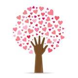 Arbre de feuille de coeur Image libre de droits