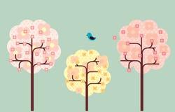 Arbre de fleur de cerise Images libres de droits