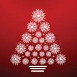 arbre de flocon de neige d'onate de Noël Photos libres de droits