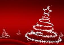 arbre de flocons de neige de Noël Photo stock