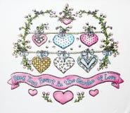 arbre de forme de coeur Photographie stock