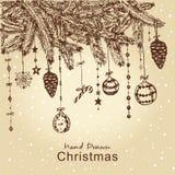 Arbre de fourrure de Noël Photos libres de droits