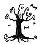 Arbre de Halloween Photo libre de droits