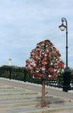 Arbre de l'amour, passerelle de Luzhkov, Moscou, Russie Photographie stock libre de droits