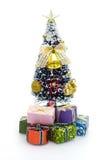 arbre de la maison de poupée de Noël s images libres de droits