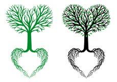 Arbre de la vie, arbre de coeur, vecteur Photo libre de droits