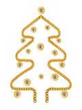 arbre de mafe de bijou de Noël Image libre de droits