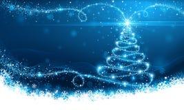 Arbre de magie de Noël Images stock